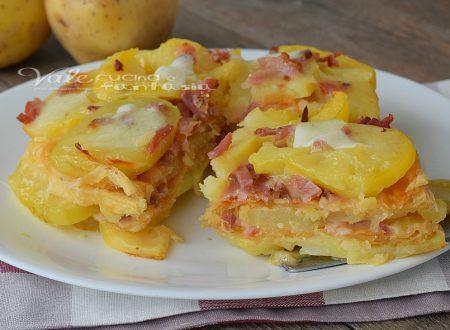 Torta salata di patate e sfoglia al contrario