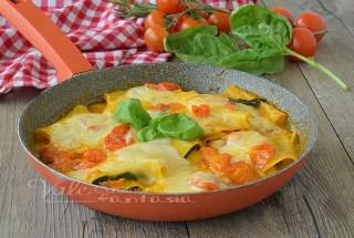 Rotolini di lasagne e zucchine senza forno