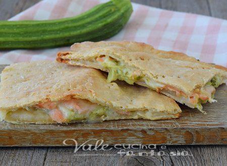 Schiacciata veloce salmone e zucchine