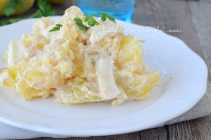 Insalata di patate e mozzarella con salsa tonnata