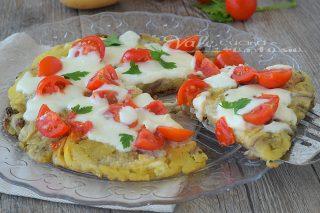 Tortino di patate e melanzane in padella