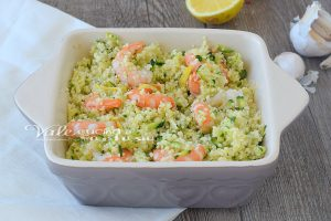 Cous Cous gamberi zucchine e limone