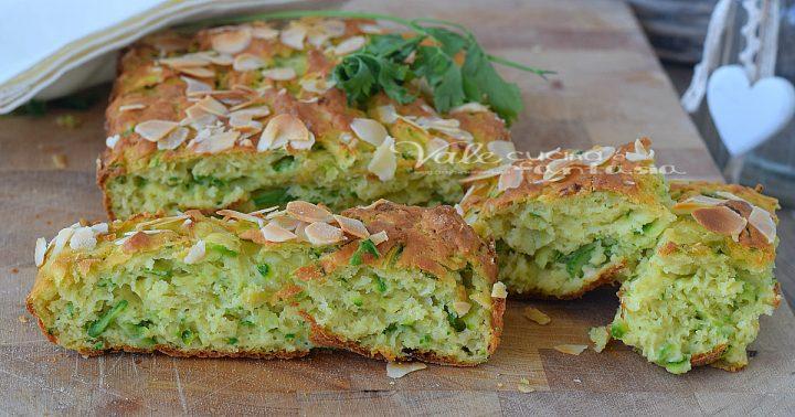 Torta di zucchine e mandorle ricetta salata
