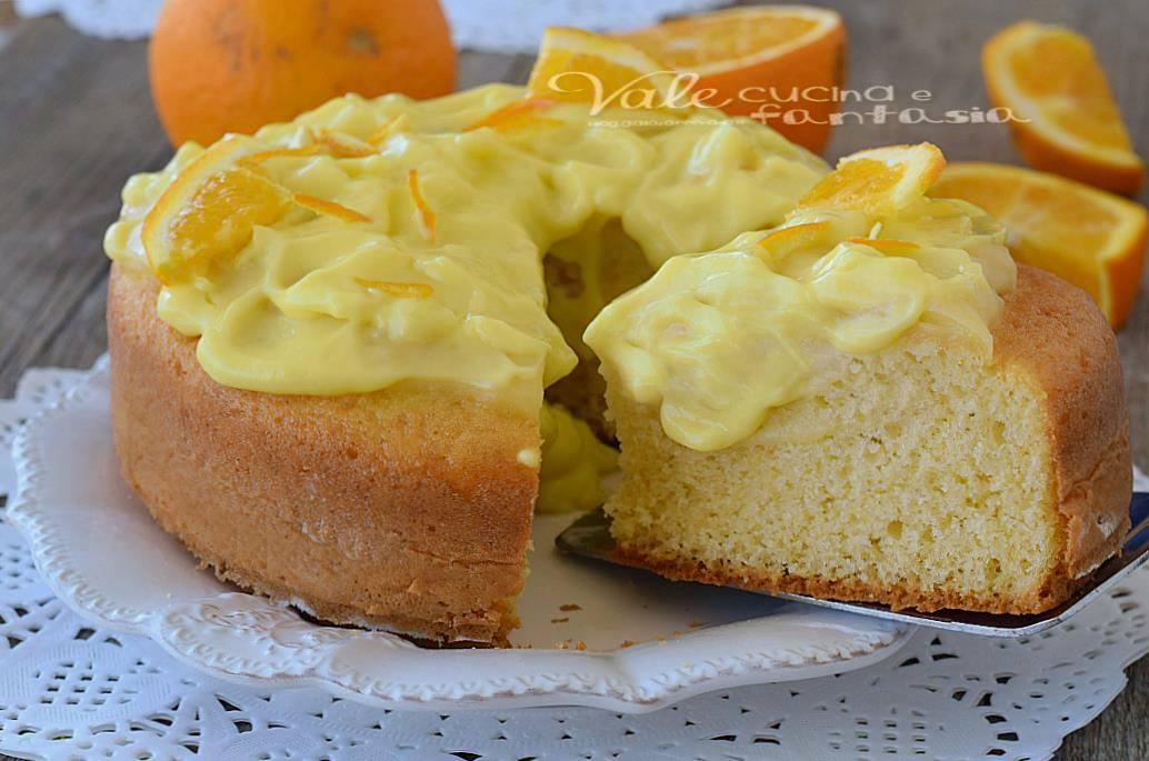 Torta con crema alle arance ricetta facile e leggera