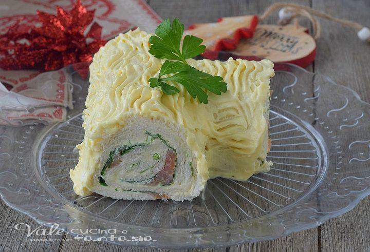 Tronchetto di Natale salato senza cottura