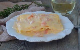 Lasagne con crema al salmone