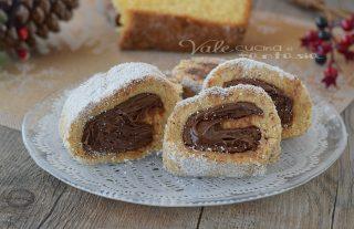 Girelle di pandoro cocco e nutella