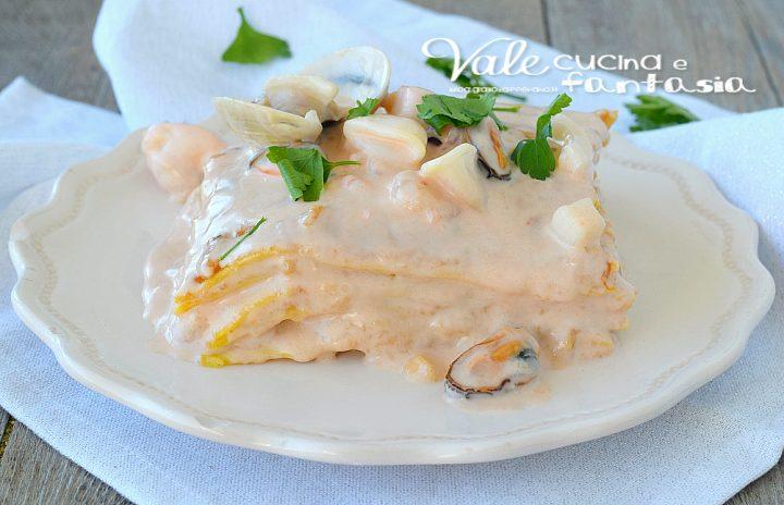 LASAGNE DI MARE ricetta primo piatto di pesce raffinata