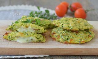 MEDAGLIONI DI ZUCCHINE al forno con prosciutto e mozzarella