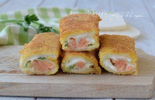 rotolini di pane con salmone zucchine
