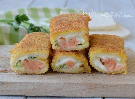 ROTOLINI  DI PANE con salmone zucchine e stracchino
