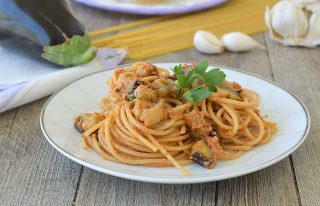spaghetti melanzane 2