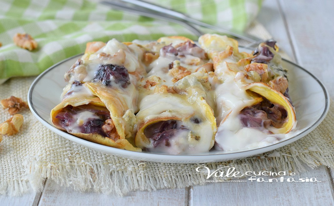 Ricette crepes con gorgonzola