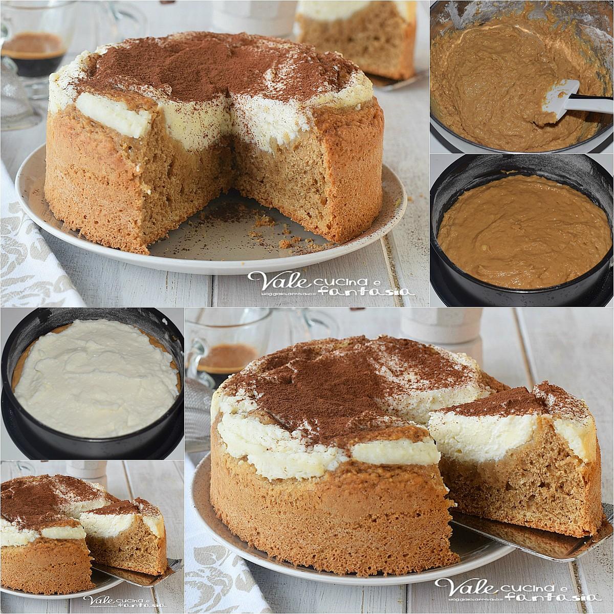 RICOTTA CAKE AL CAFFE ricetta senza burro e olio