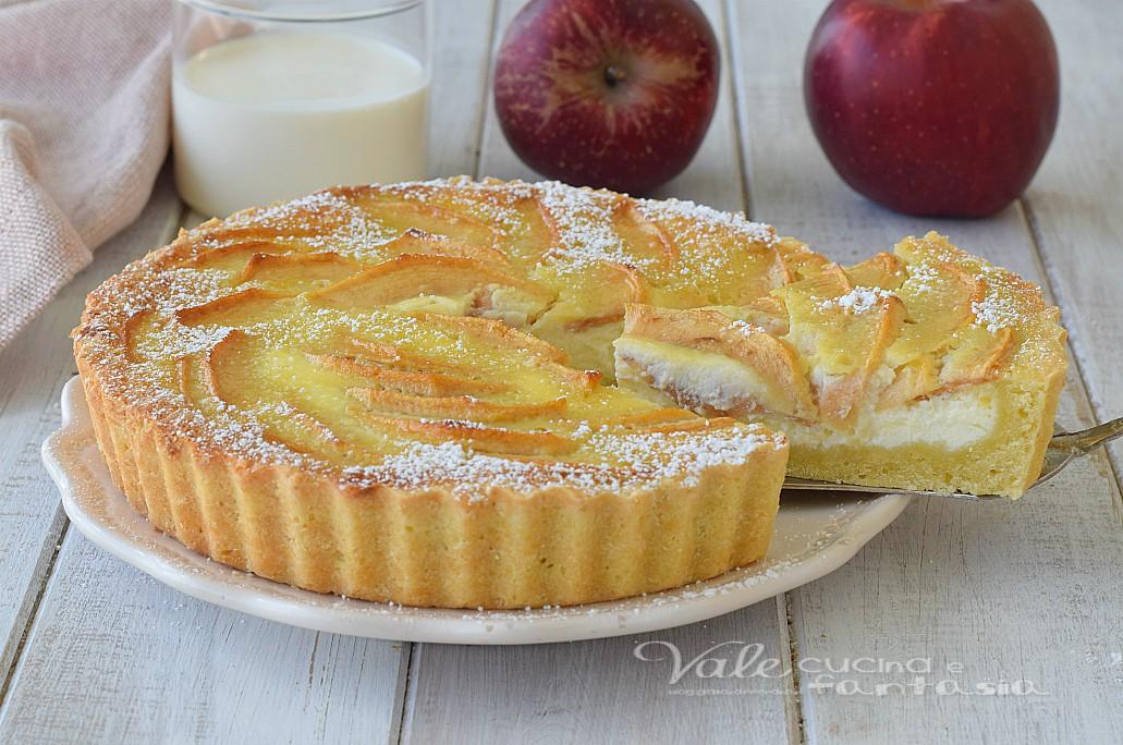Crostata di mele alla crema di panna ricetta for Crostata di mele