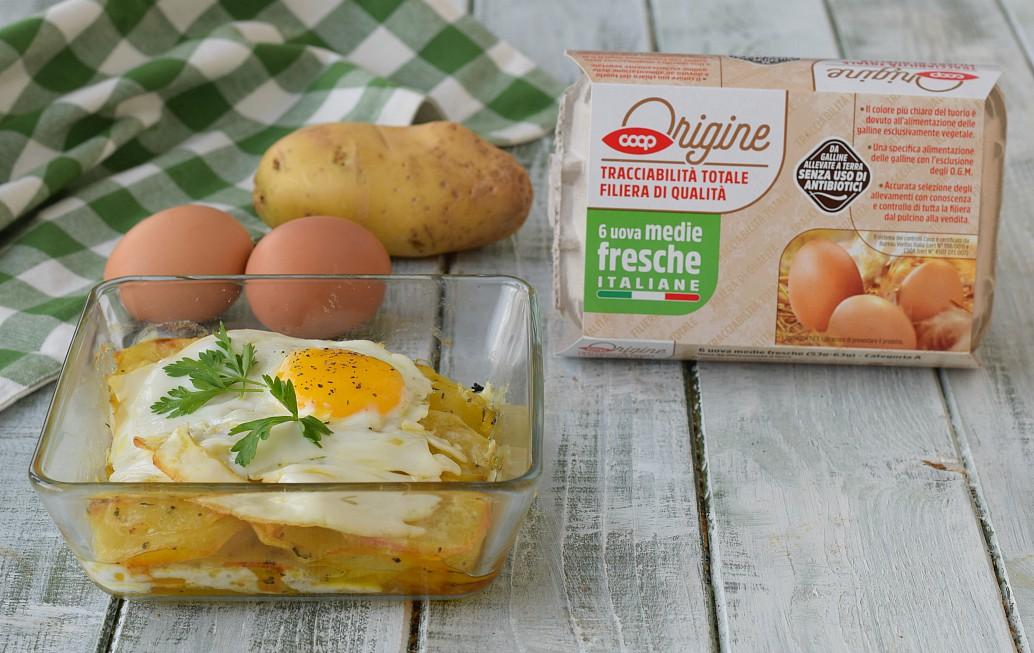 Uova sul letto di patate ricetta secondo piatto - Uova cimici da letto ...
