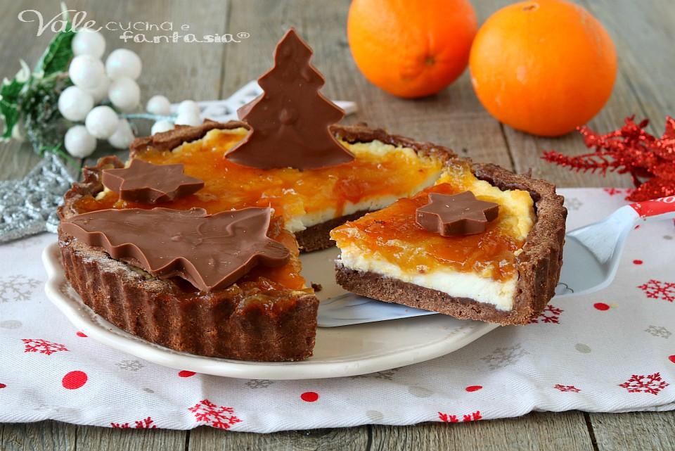 Crostata di natale ricotta e arancia ricetta dolce - Decorare frigorifero ...