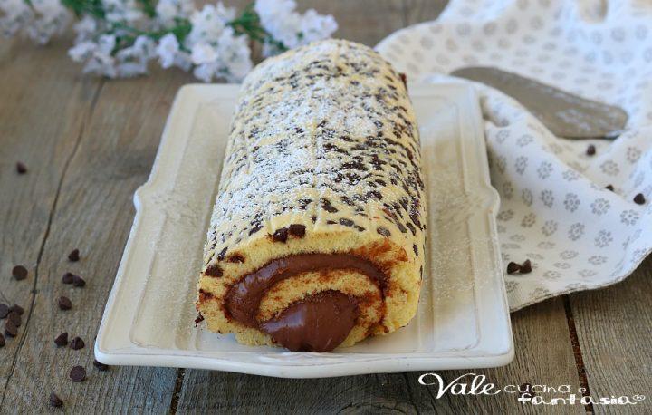 ROTOLO COOKIE CON NUTELLA ricetta dolce facile e veloce