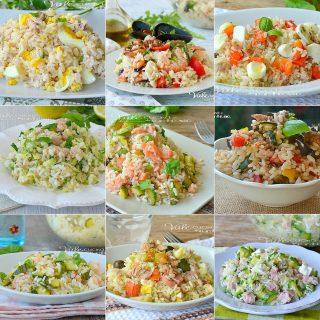 INSALATE DI RISO 10 RICETTE VELOCI primi piatti freddi con il riso
