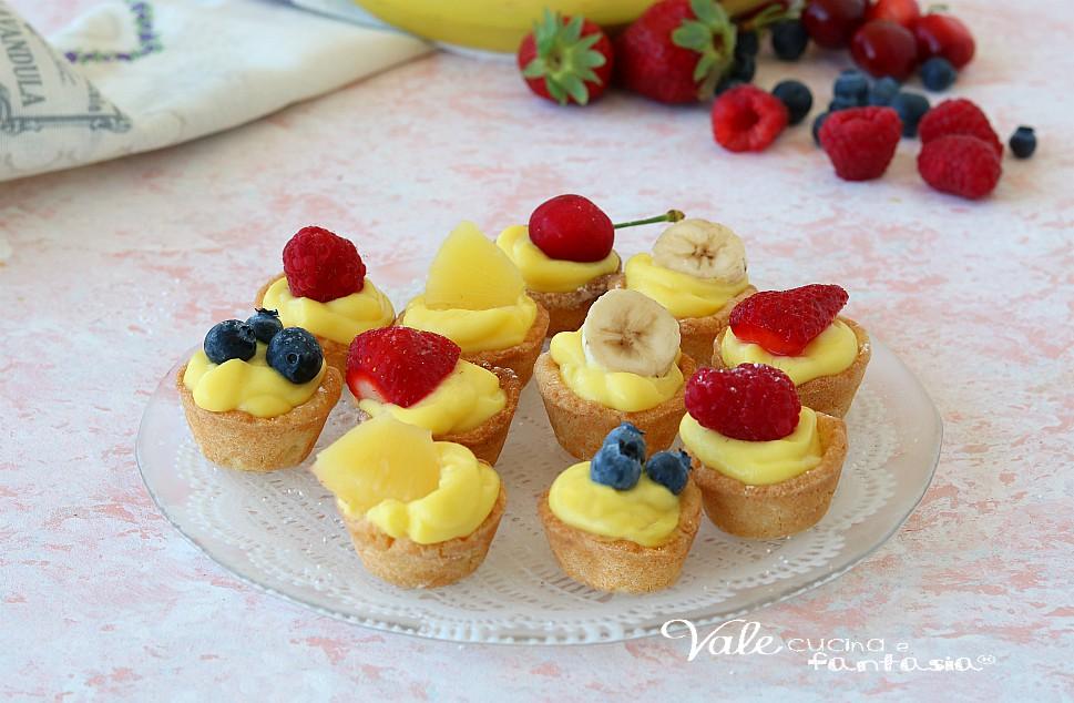 TARTELLETTE ALLA FRUTTA e crema pasticcera dolci facili