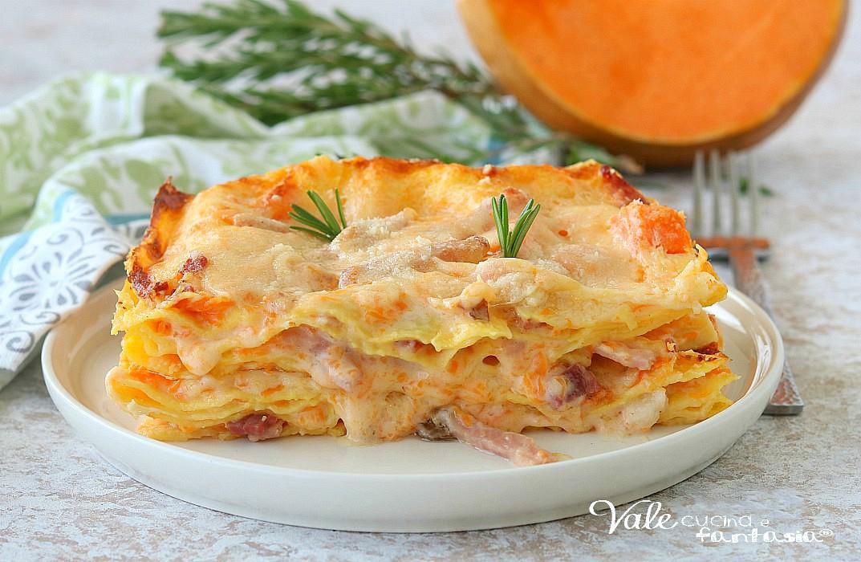 Ricetta Lasagne Di Zucca.Lasagne Con Crema Di Zucca E Speck Primo Piatto Facile