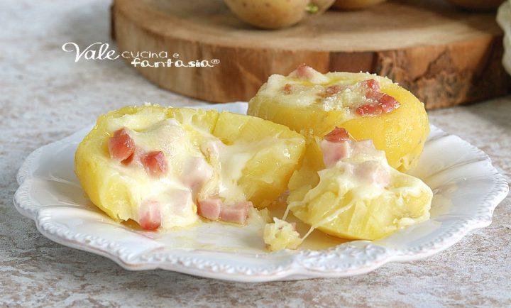pATATE RIPIENE AL FORNO con prosciutto e formaggio