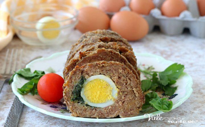 POLPETTONE RIPIENO AL FORNO con uova sode