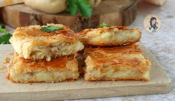 TORTA SALATA CON PATATE e tonno ricetta ANTIPASTO