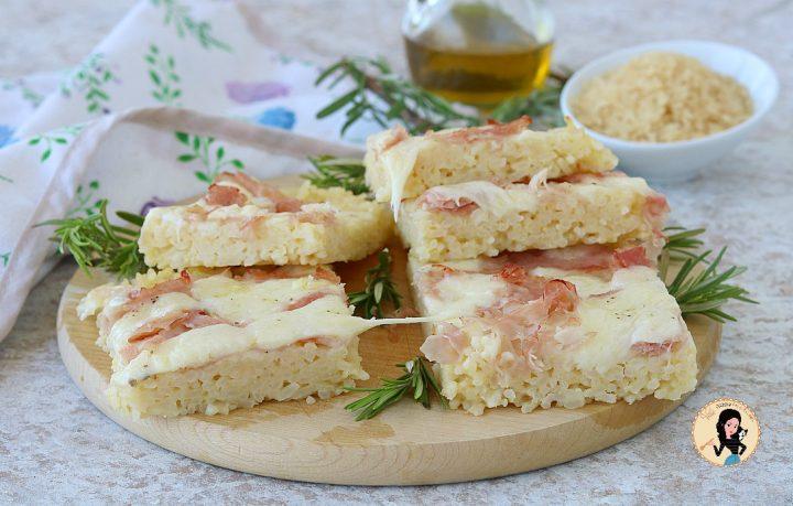 PIZZA DI RISO con prosciutto e provola ricetta facile e sfiziosa,