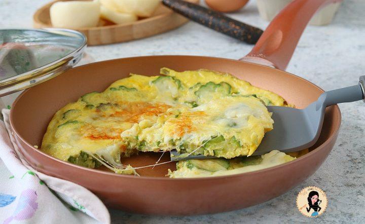 FRITTATA DI ZUCCHINE E PROVOLA ricetta con le uova