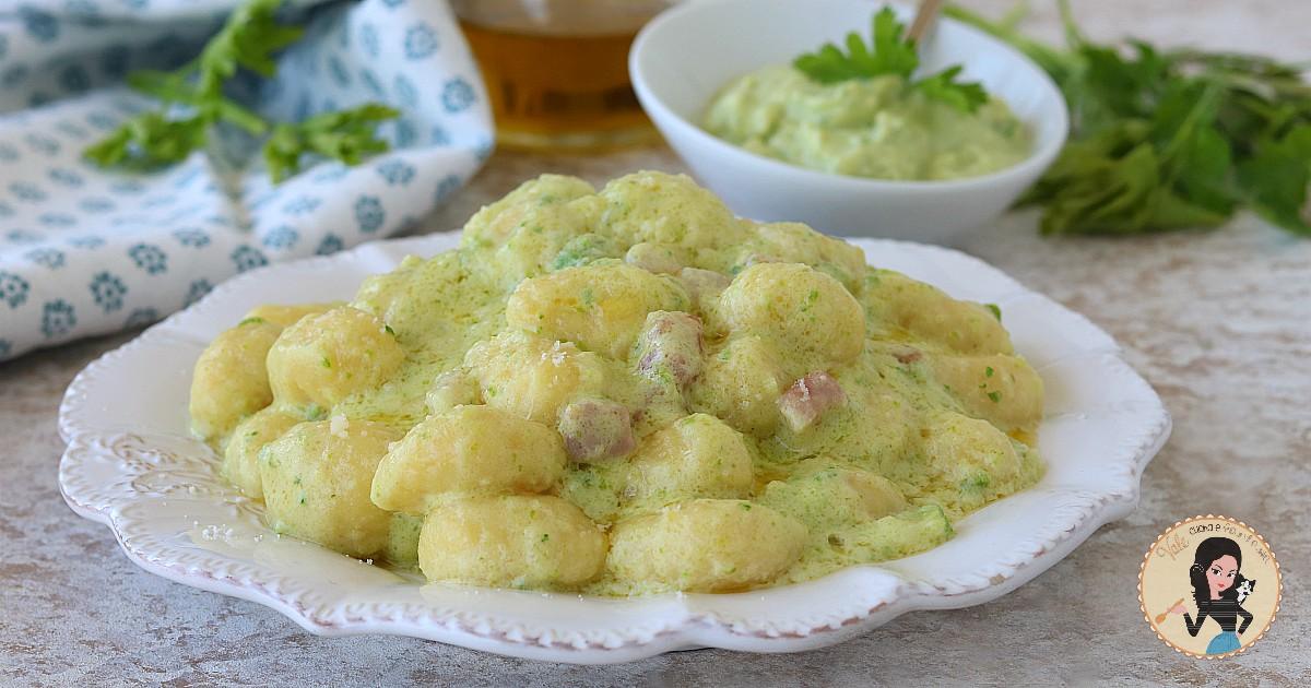 Gnocchi con crema di zucchine e pancetta primo piatto veloce for Primo piatto veloce
