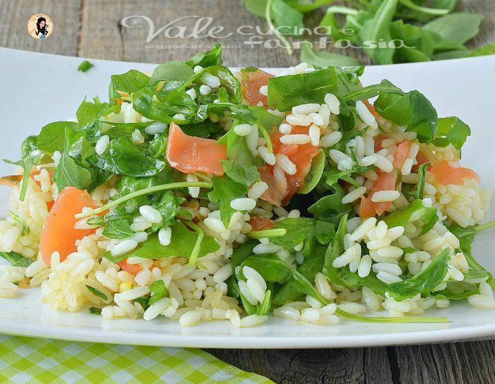 Insalata di riso salmone e rucola primo di riso estivo