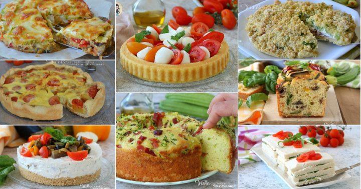 TORTE SALATE RICETTE ESTIVE per antipasto aperitivo o buffet