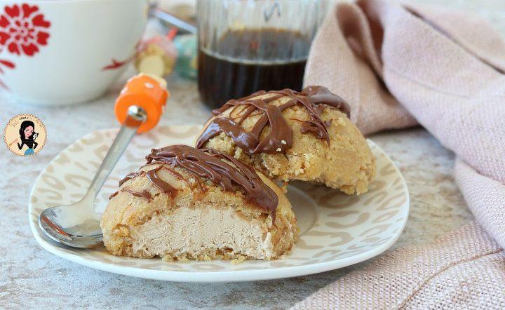 TORTINE GELATO CAFFE E NUTELLA con base di biscotti