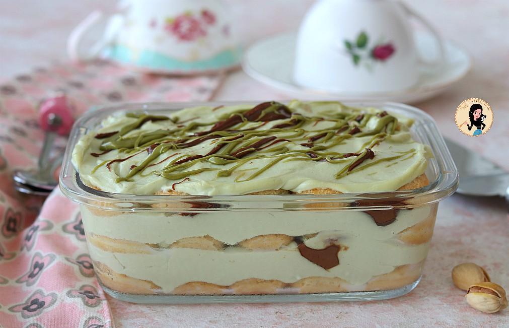 TIRAMISU PISTACCHIO E NUTELLA dolce al cucchiaio