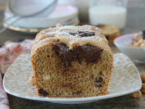 PLUMCAKE INTEGRALE con nocciole e cioccolato