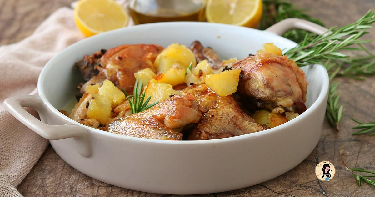 POLLO AL FORNO CON PATATE ricetta tradizionale