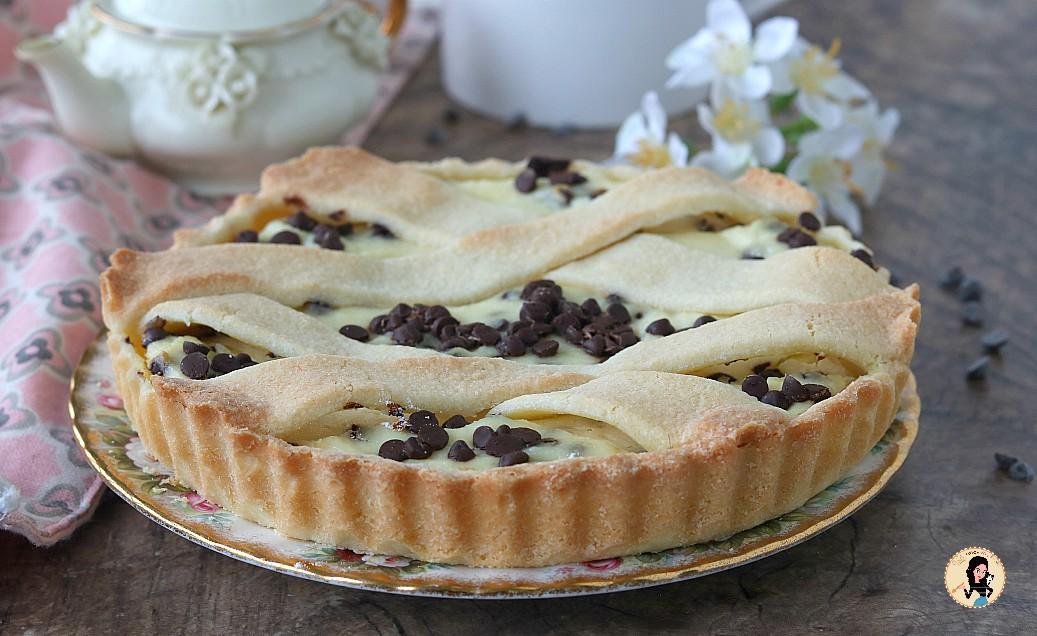 Crostata ricotta e cioccolato ricetta con pasta frolla perfetta