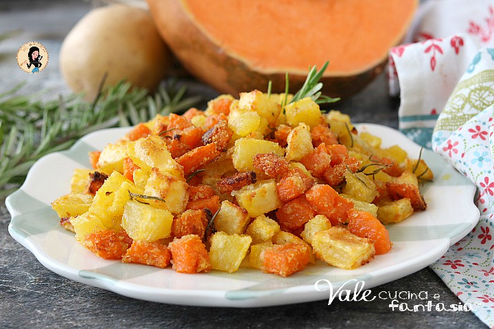 ZUCCA E PATATE AL FORNO patate al forno con la zucca veloci