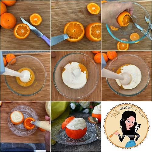 MOUSSE AL MANDARINO SENZA COTTURA mandarini ripieni facili