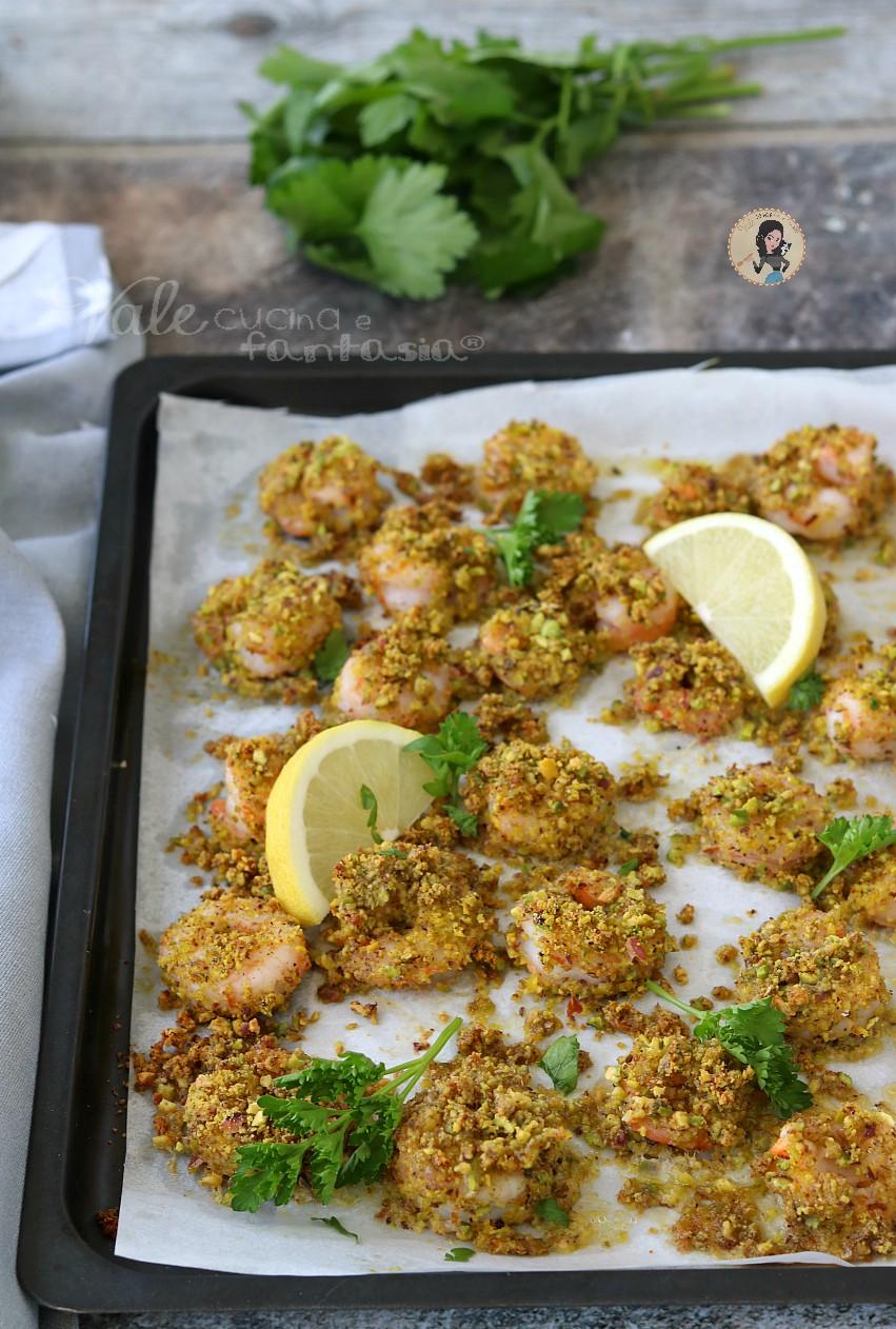 GAMBERI AI PISTACCHI al forno gamberi gratinati ai pistacchi pronti in pochissimi minuti!