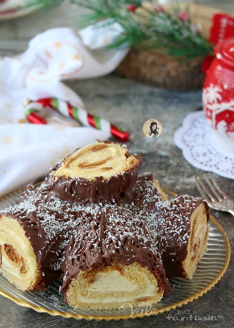 TRONCHETTO DI PANDORO con nutella e mascarpone dolce di Natale furbissimo