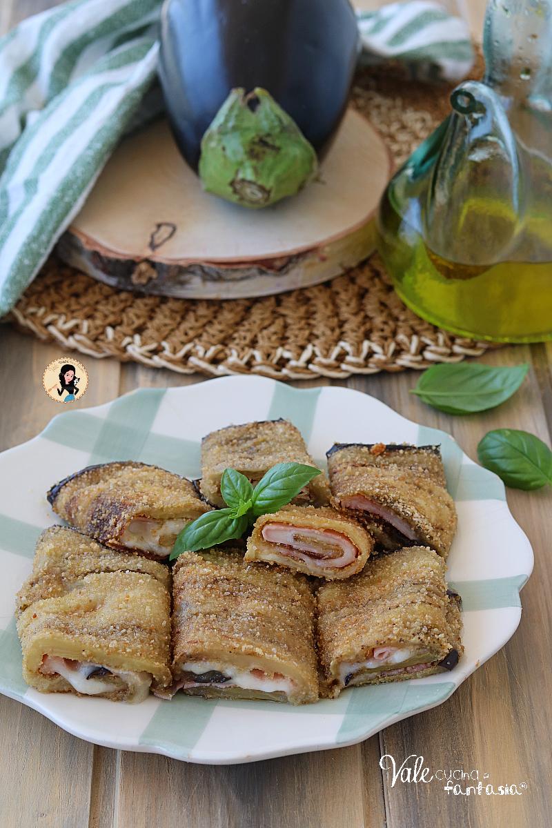 INVOLTINI DI MELANZANE AL FORNO ricetta farcita con prosciutto e formaggio