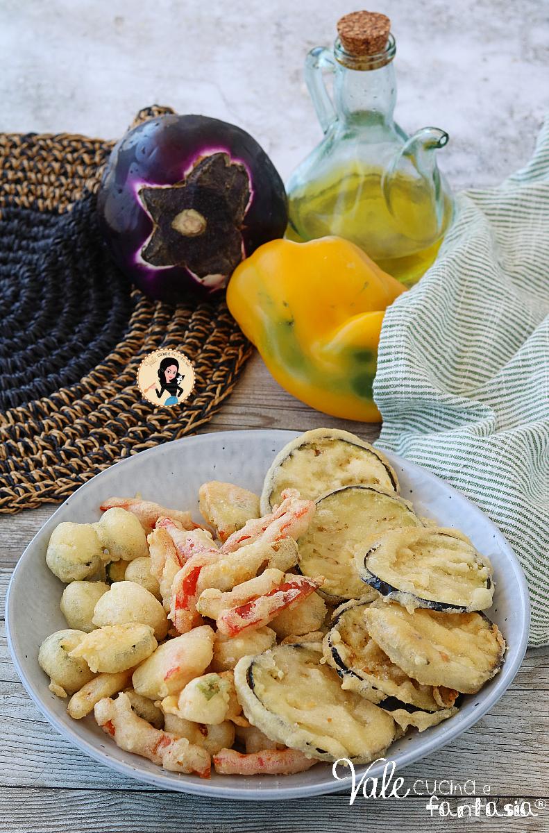 FRITTO MISTO DI VERDURE ricetta con pastella senza uova croccante e asciutto