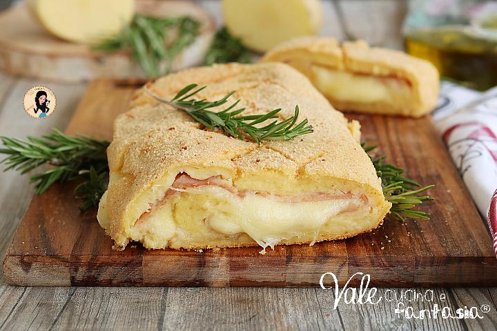POLPETTONE DI PATATE con prosciutto e formaggio