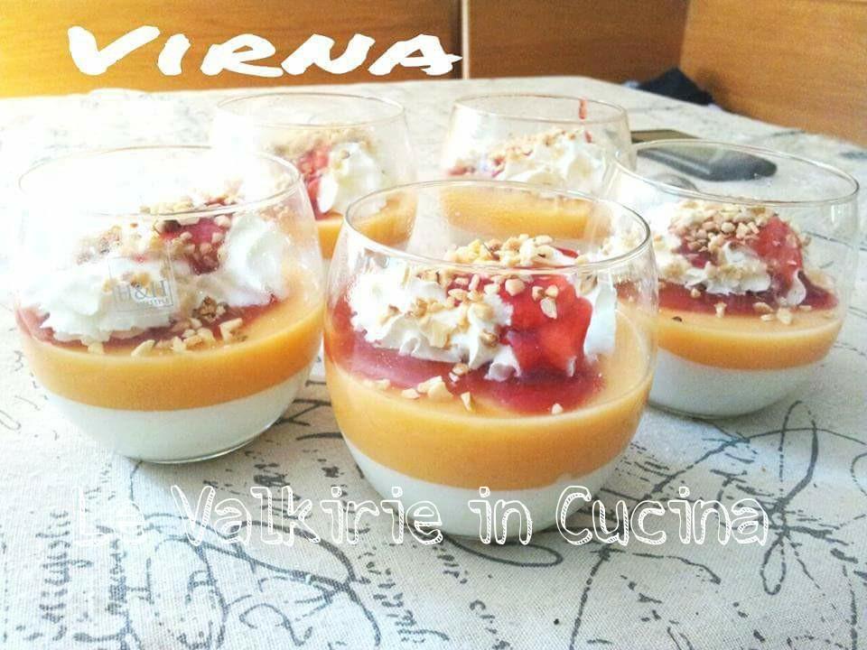 Bicchierini light allo yogurt e melone le valkirie in cucina - Differenza panna da cucina e panna fresca ...