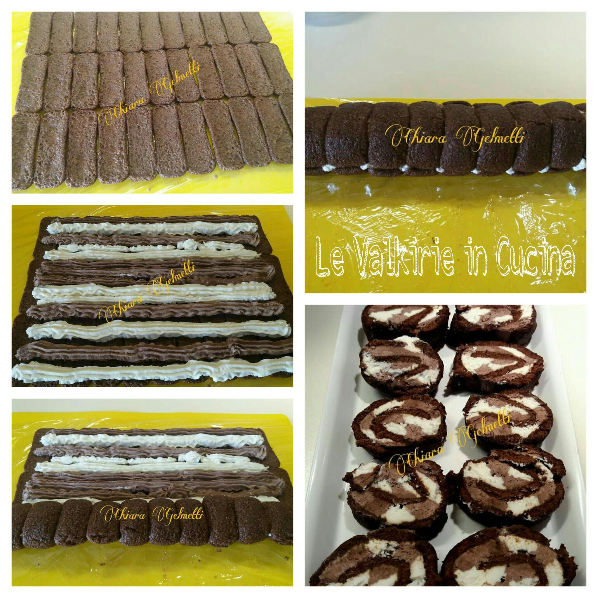 Rotolo di pavesini con panna mascarpone e cacao di chiara - Differenza panna da cucina e panna fresca ...