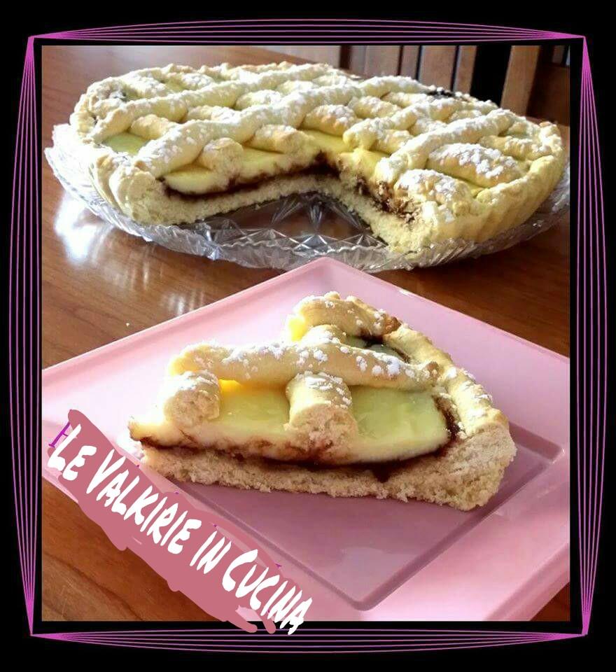 Crostata con crema e nutella
