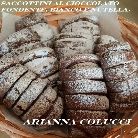 Saccottini al cioccolato fondente, bianco e nutella di:Arianna Colucci