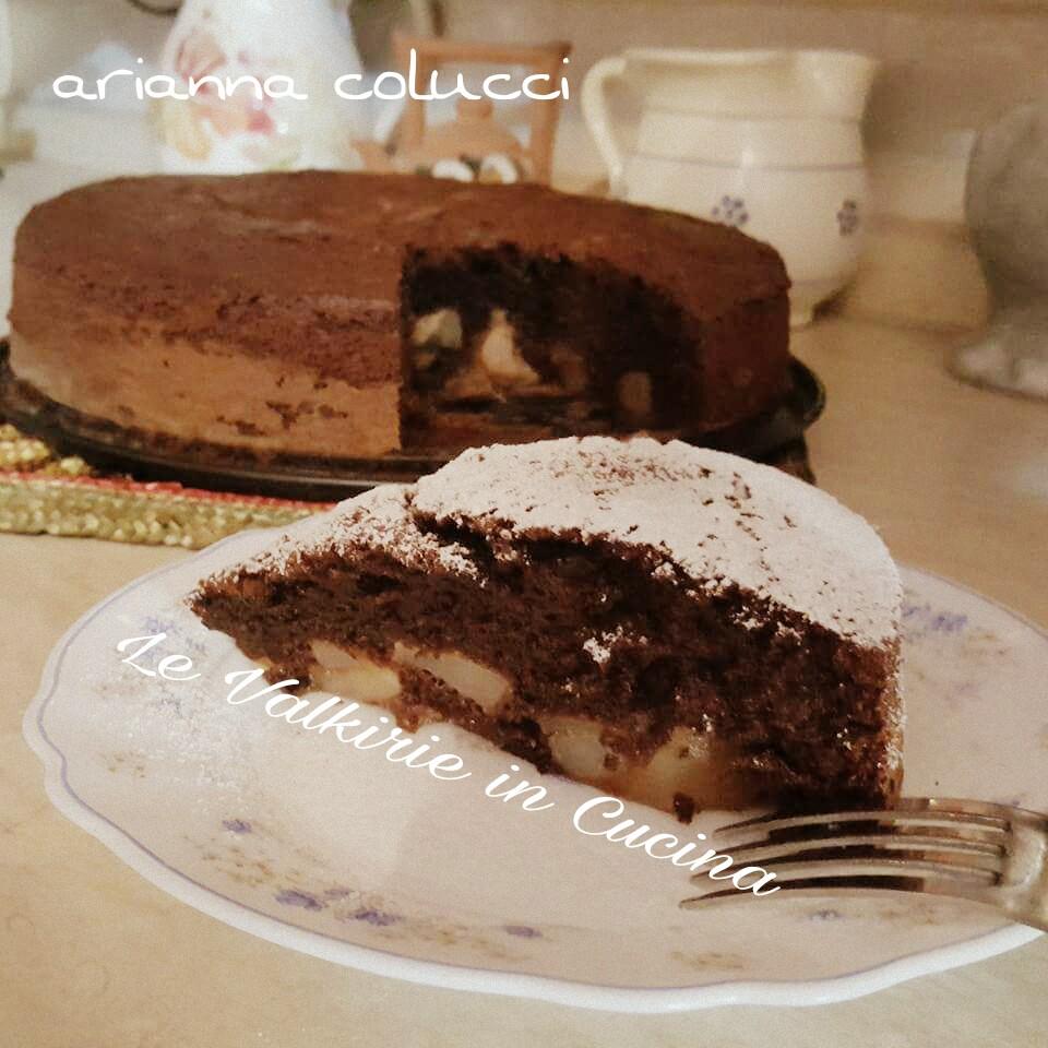 Torta soffice pere e cioccolato di Arianna Colucci